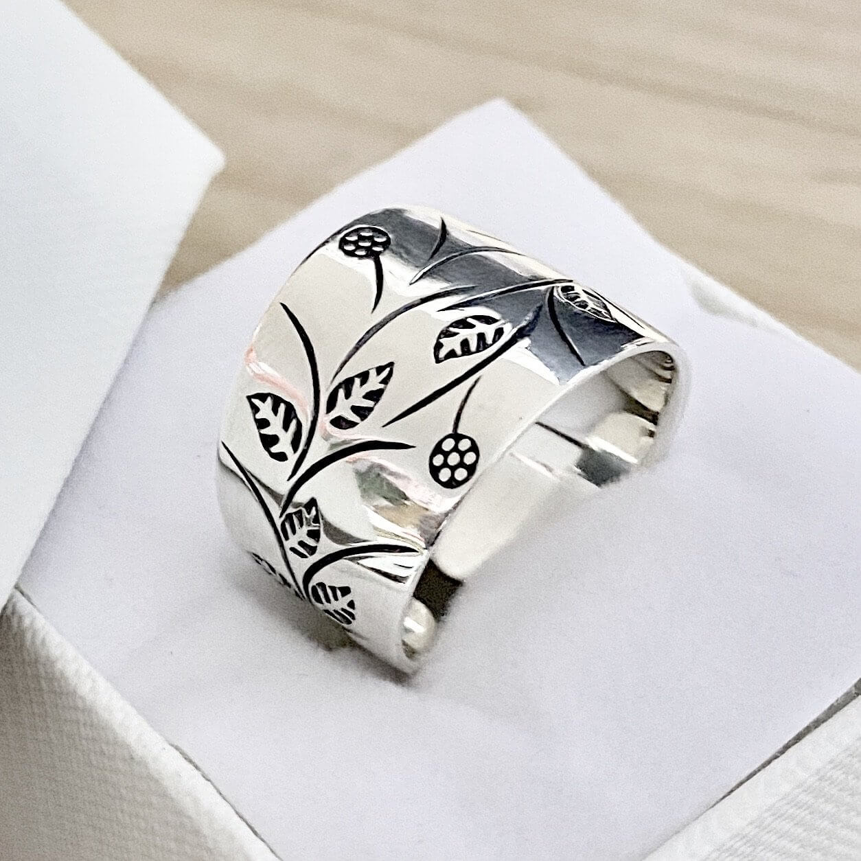 Laihas Garden Of Spring Statement Gypsy Cuff Sterling Silver Boho Ring Ass Sizes - Laihas Bohemian Dreaming