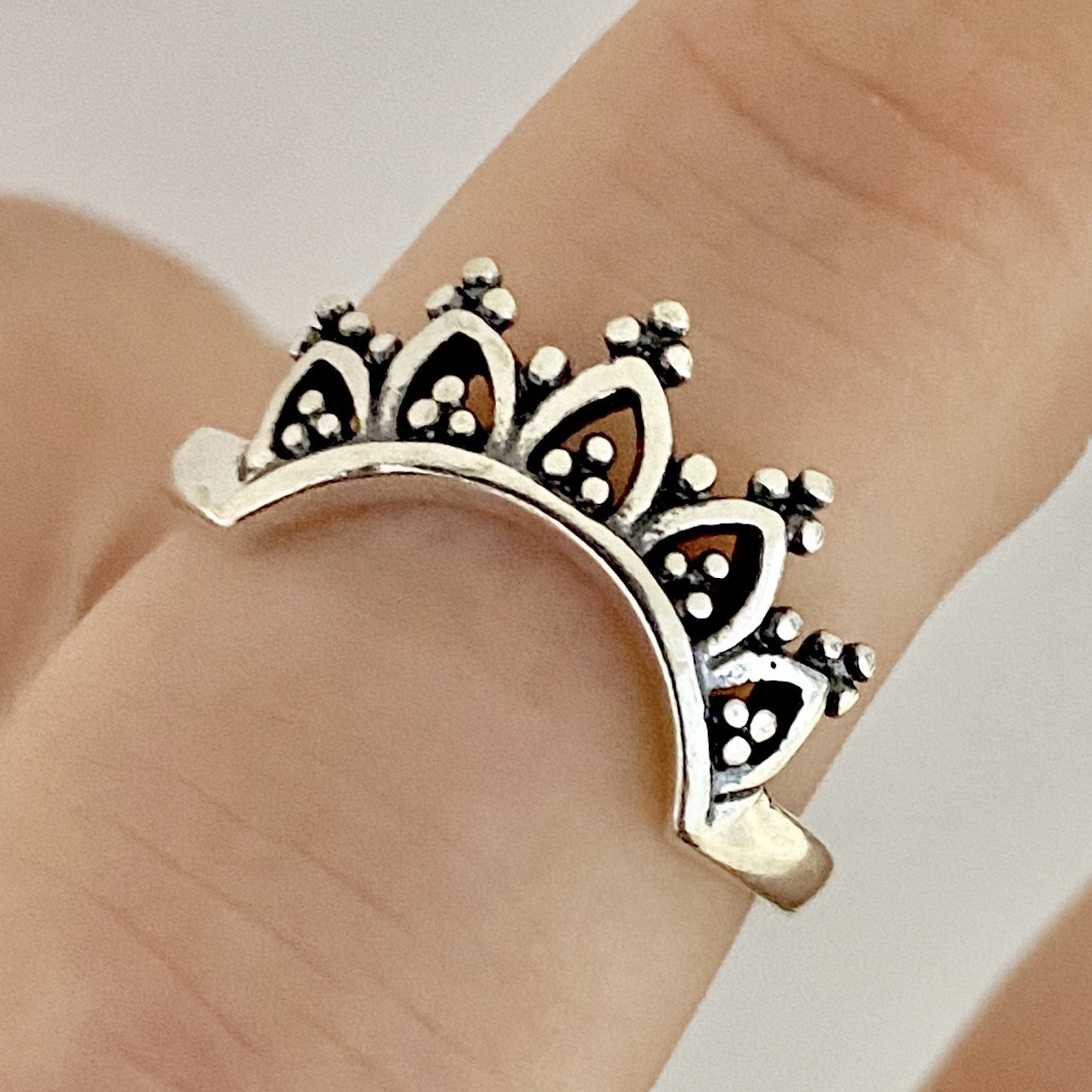 Laihas Handcrafted Romantic Crescent Boho Ring Ass sizes - Laihas Bohemian Dreaming