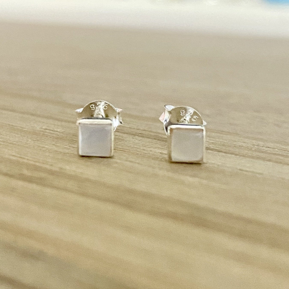 Laihas Mini Mother of Pearl Earrings- Simple Studs - Laihas Bohemian Dreaming