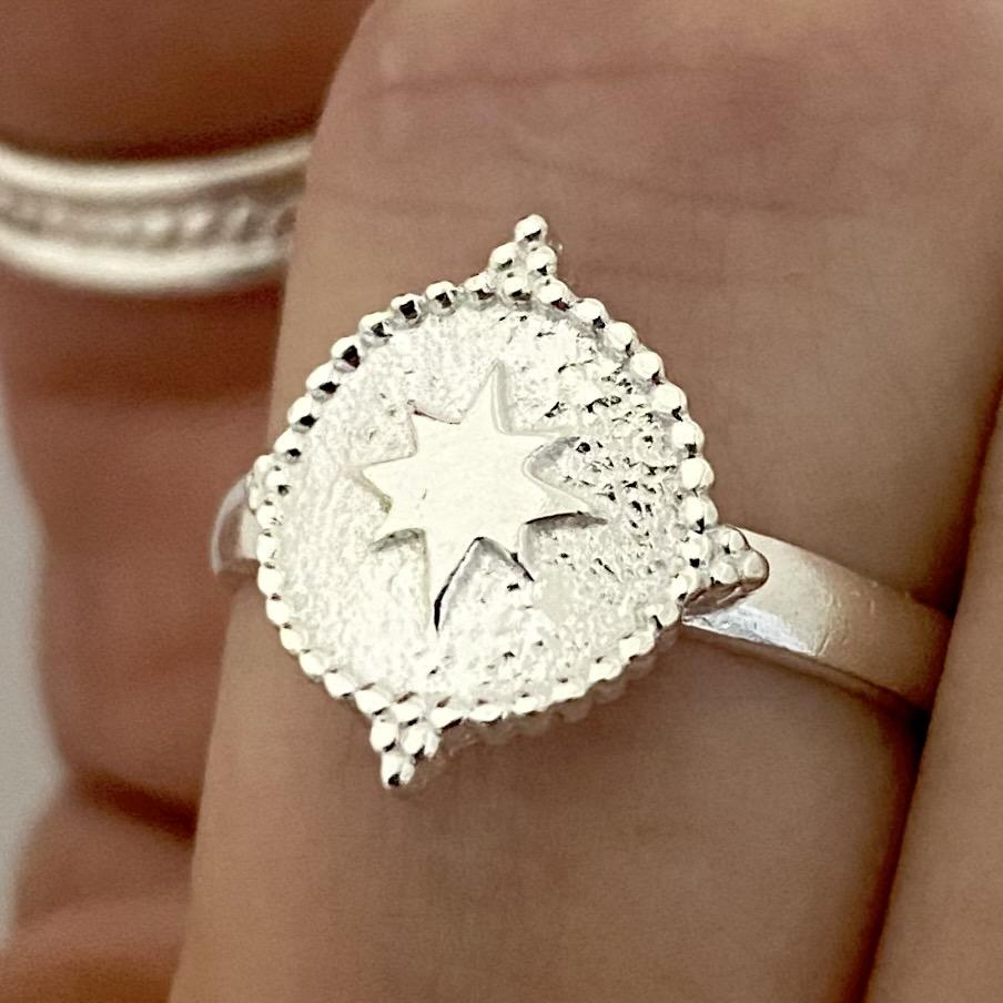 Laihas Prestige Southern Star Sterling Silver Boho Ring - Laihas Bohemian Dreaming