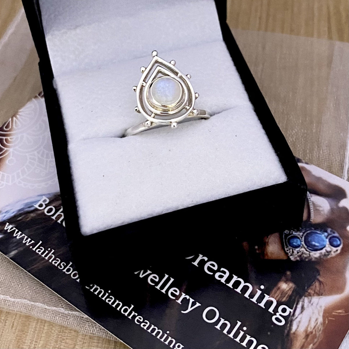 Laihas Temple Of Love Moonstone Ring - Laihas Bohemian Dreaming