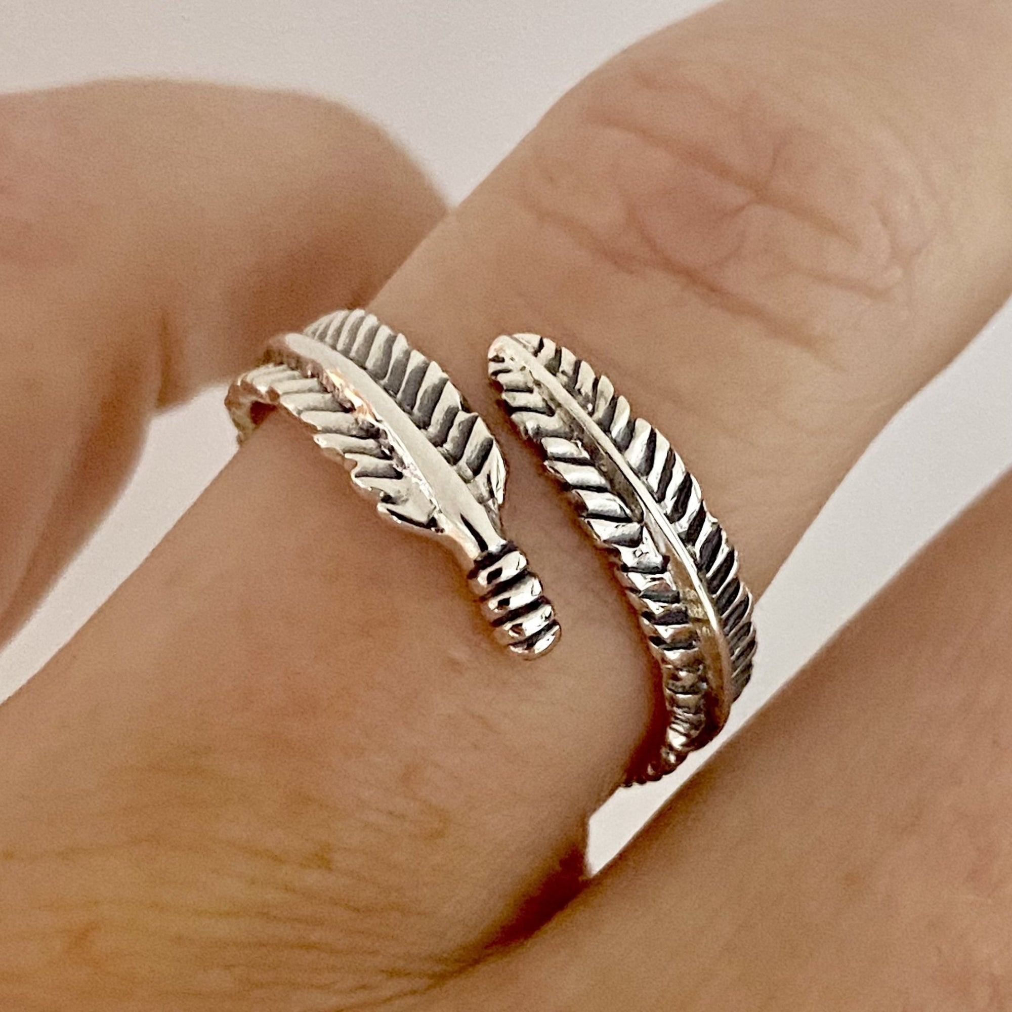 Laihas Wrapping Leaf Oxidised Sterling Silver Boho Ring Ass sizes - Laihas Bohemian Dreaming