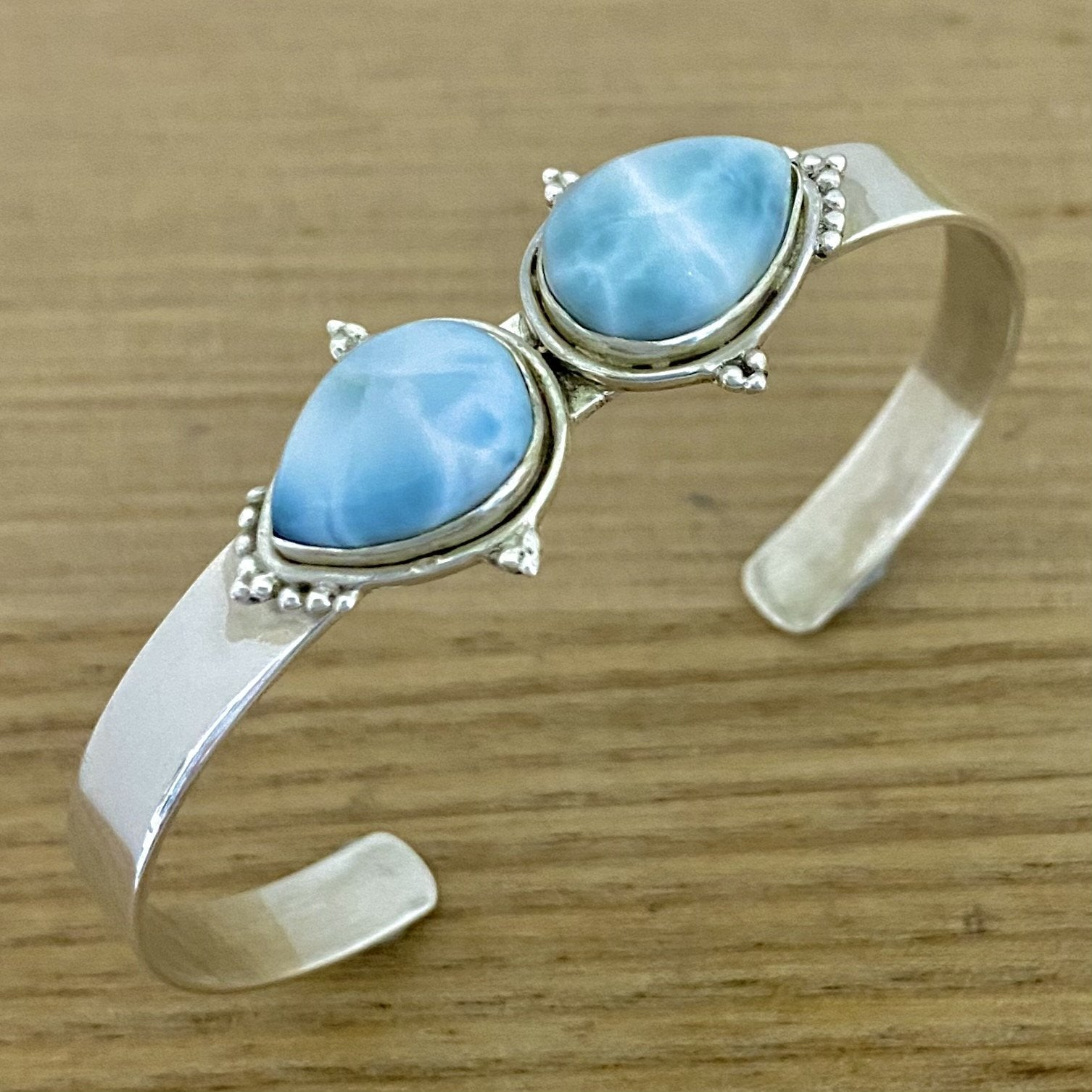 Laihas Zahli Two Tear Larimar Bangle - Laihas Bohemian Dreaming