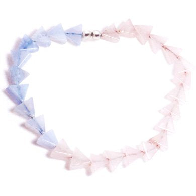 LUCID WATERS bracelet with blue lace agate and rose quartz