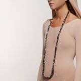 ORGANIC OPULENCE long braided hematine necklace