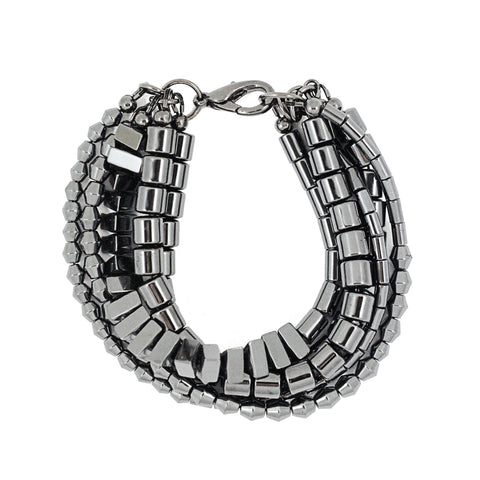 TWISTED MERCURY hematine bracelet