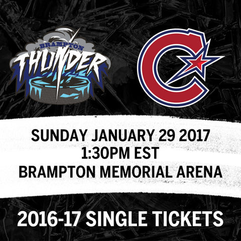 January 29 2017 - 1:30PM - Brampton Thunder vs. Les Canadiennes de Montreal