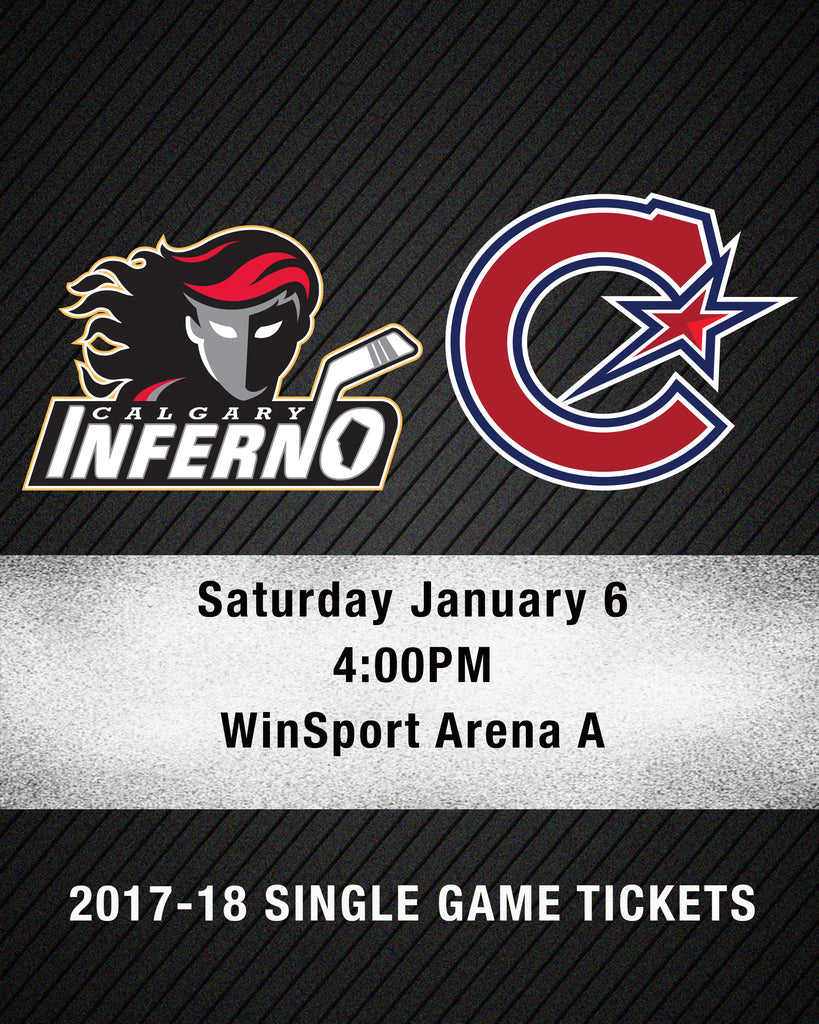 January 6 2018 - 4:00PM - Calgary Inferno vs Les Canadiennes de Montreal