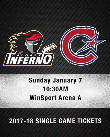 January 7 2018 - 10:30AM - Calgary Inferno vs. Les Canadiennes de Montreal