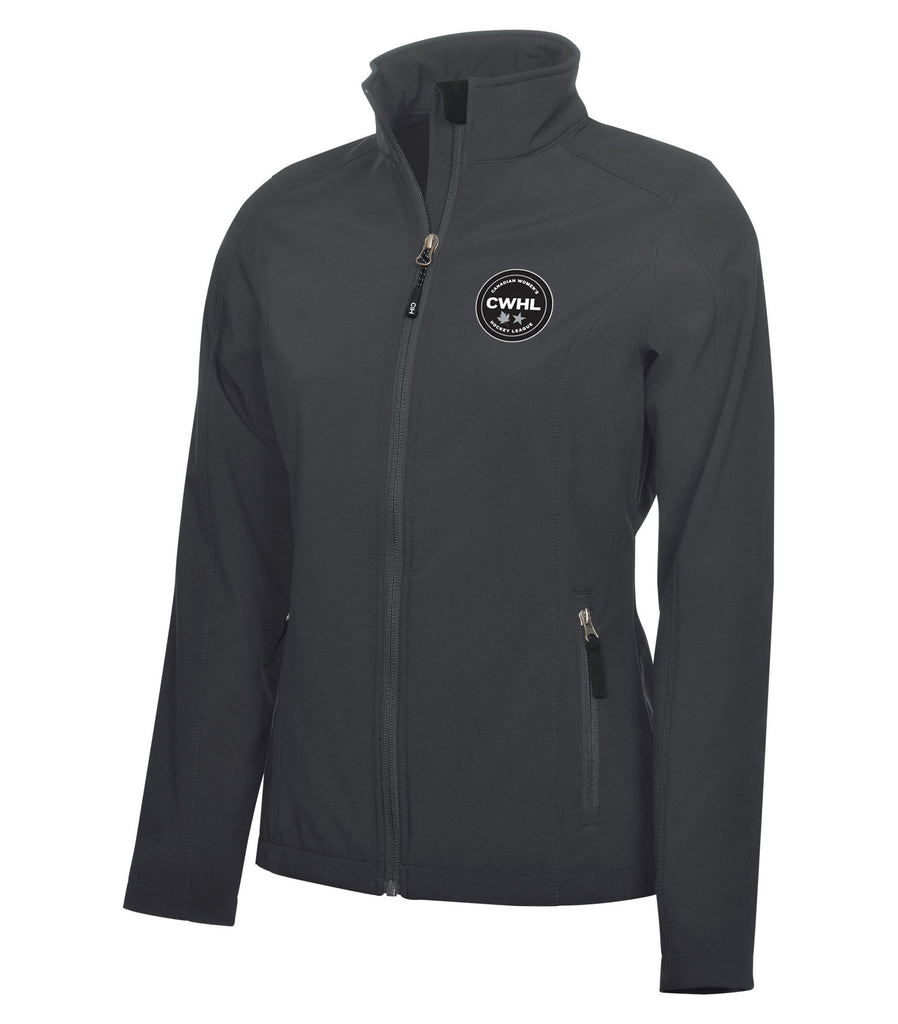 CWHL Women's Charcoal Soft Shell Jackets