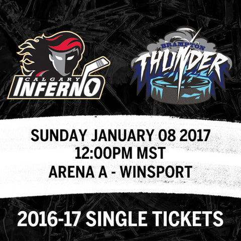 January 08 2017 - 12:00PM - Calgary Inferno vs. Brampton Thunder