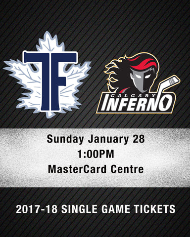 January 28 2018 - 1:00PM - Toronto Furies vs. Calgary Inferno