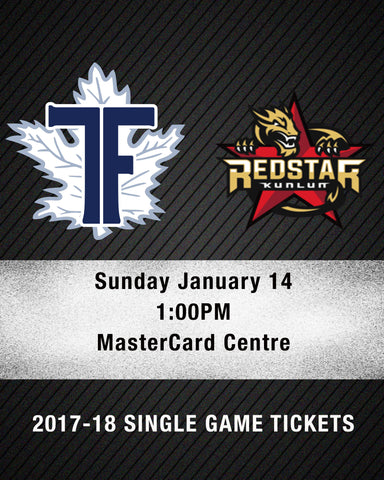 January 14 2018 - 1:00PM - Toronto Furies vs. Kunlun Red Stars