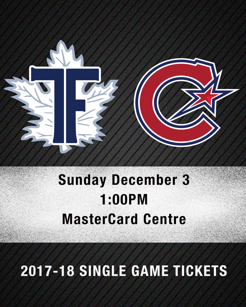 December 3 2017 - 1:00PM - Toronto Furies vs, Les Canadiennes de Montreal