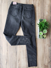 Load image into Gallery viewer, far out faded black denim