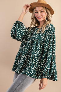 emerald field blouse