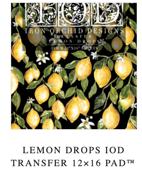 LEMON DROPS IOD TRANSFER 12×16 PAD™