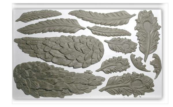WINGS AND FEATHERS 6×10 DECOR IOD MOULDS