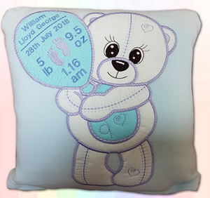 Teddy Announcement Cushion