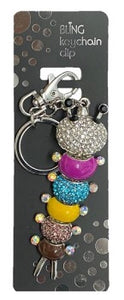 Bling Caterpillar Keyring