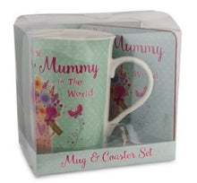 Load image into Gallery viewer, Best Mum In The World Mug & Coaster Set