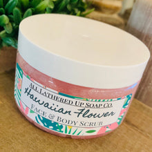 Load image into Gallery viewer, Hawaiian Flower Face & Body Scrub 4oz