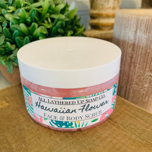 Hawaiian Flower Face & Body Scrub 4oz