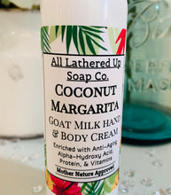 Load image into Gallery viewer, Coconut Margarita Goat Milk Hand & Body Cream