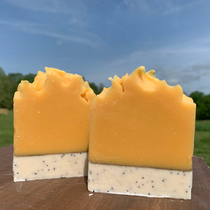 Pre-Order!. Orange Poppyseed Goats Milk Soap