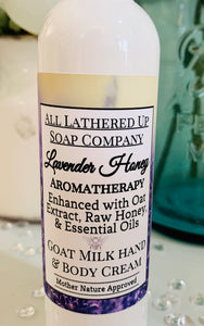 Lavender Honey ~Oat Extract~ Goat Milk Hand & Body Cream
