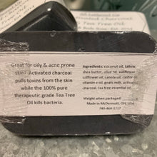 Load image into Gallery viewer, Charcoal & Tea Tree Facial Bars