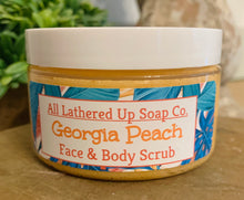Load image into Gallery viewer, Georgia Peach Face & Body Scrub
