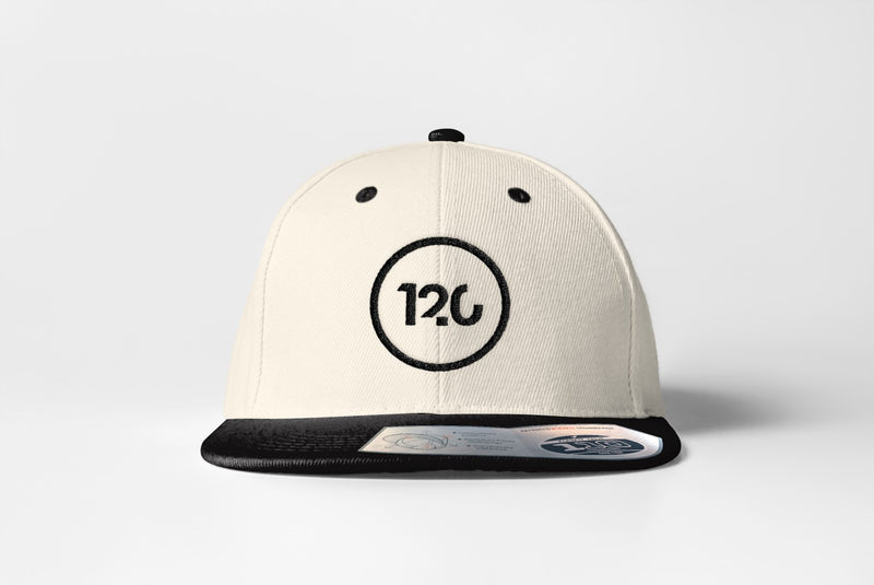 120 Logo Snapback - Natural/Black