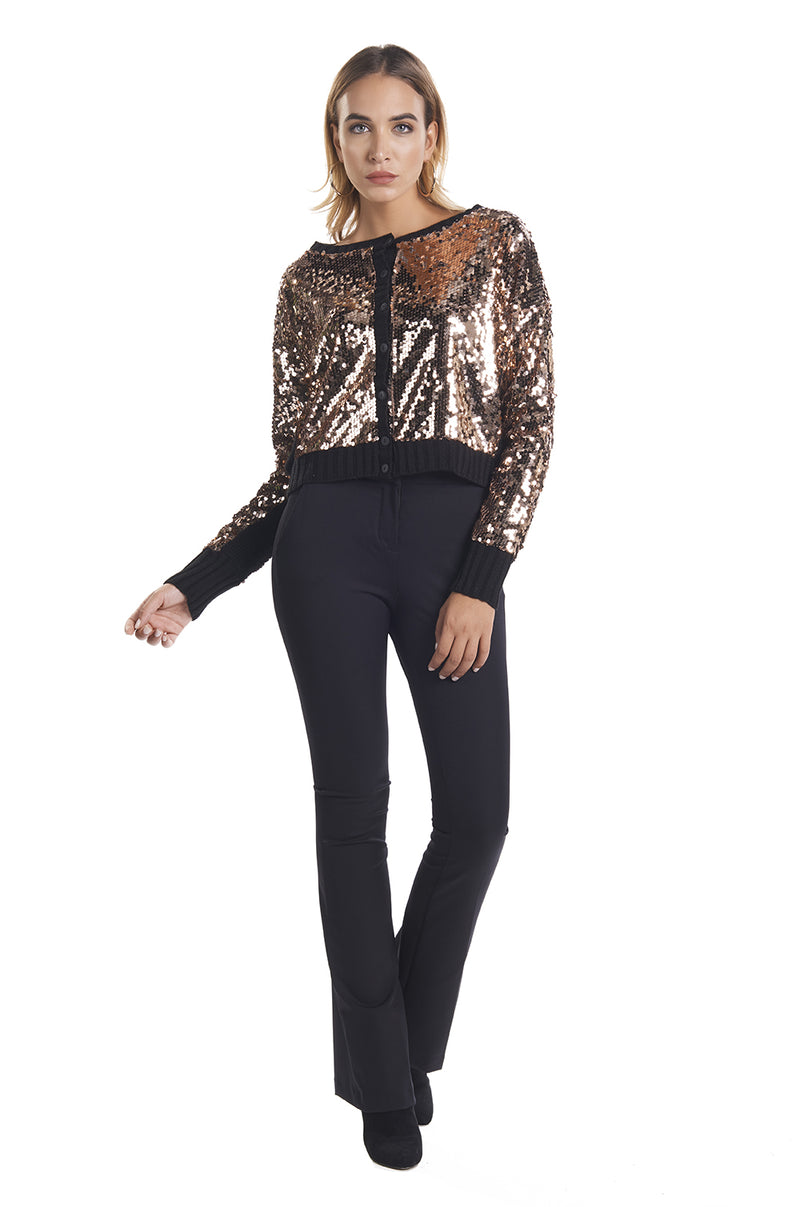 Cardigan corto full paillettes AFRIC