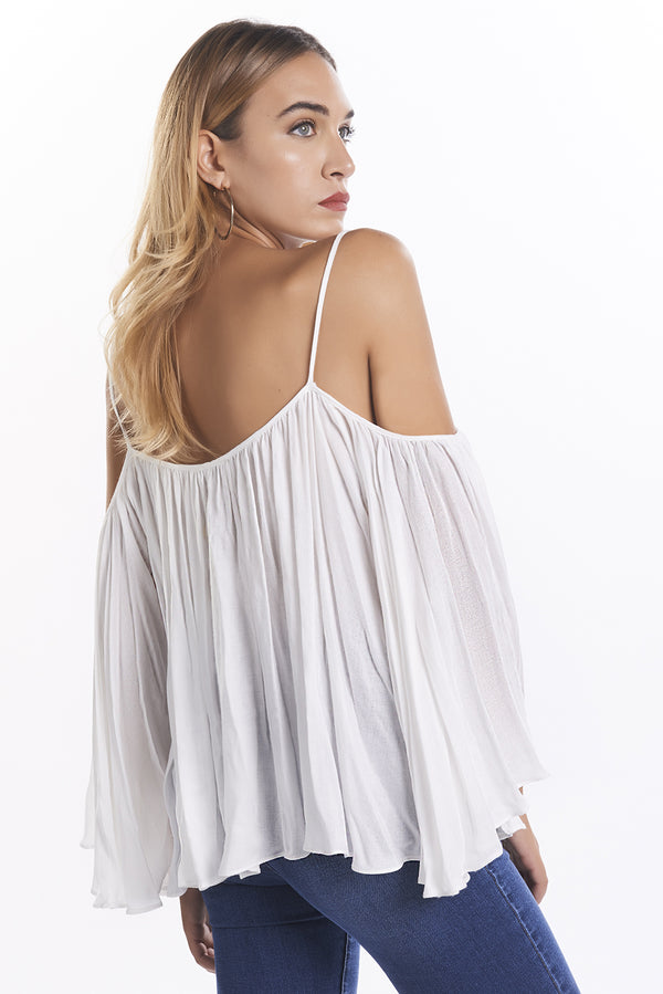 Blusa over in crepe con nappe colorate FOHA