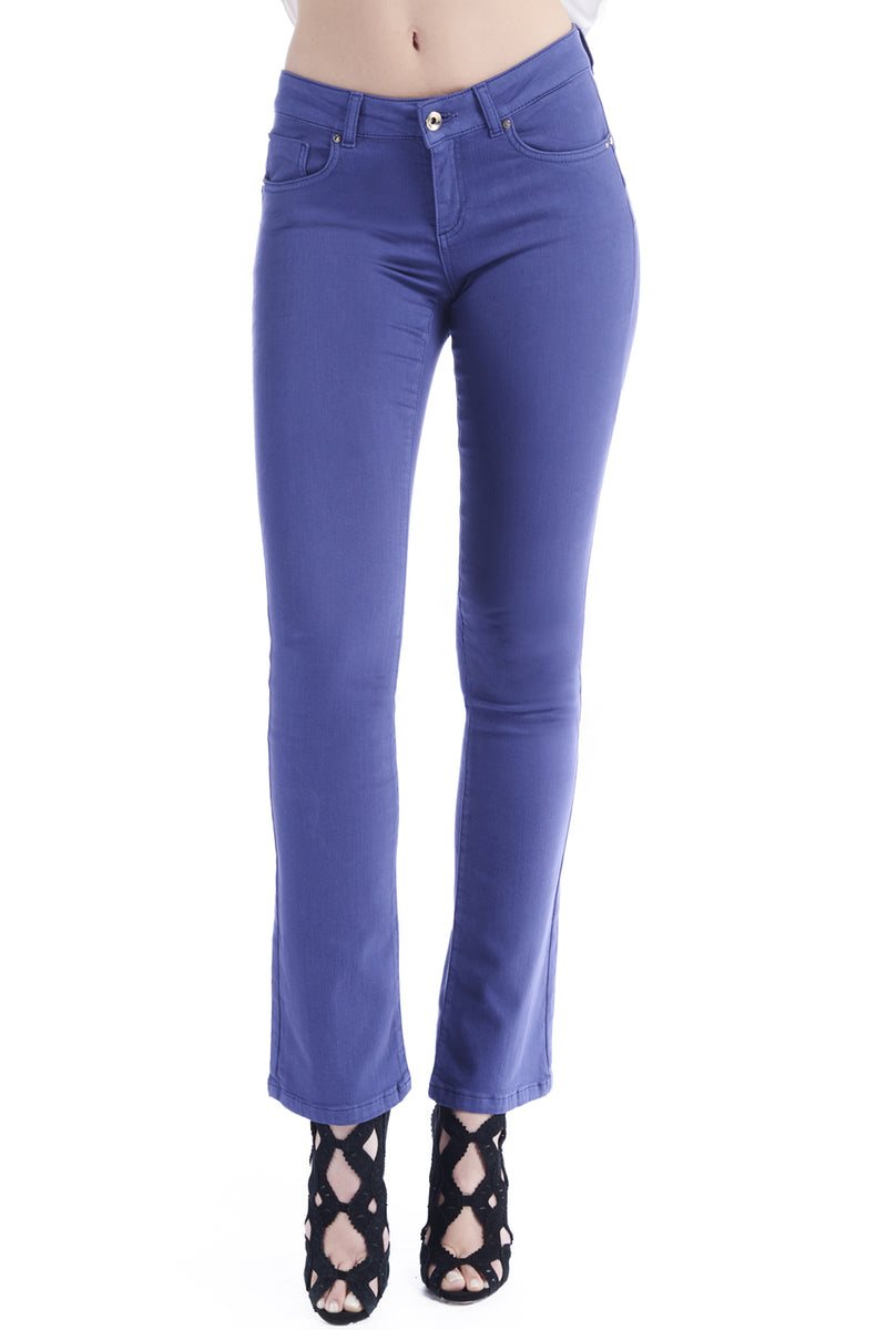 Pantaloni in cotone colorato push-up FLOORA