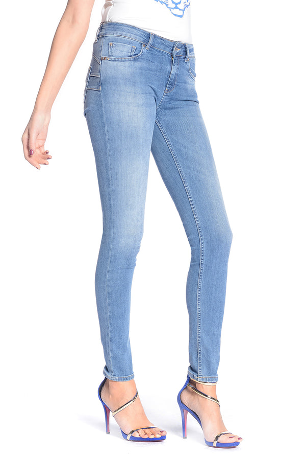 jeans in denim push-up FLOORA