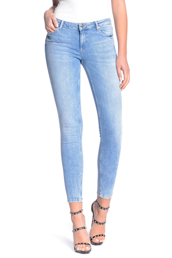Jeans skinny MARILYN in denim con zip sul fondo