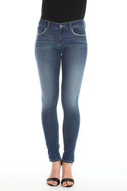 jeans in denim push-up con applicazioni luminose FLOORA/B