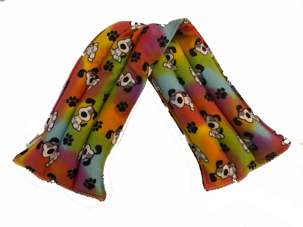 Rainbow Dog Hot-Cold Packs 44 Scents to Choose From Snoopy Design Tie Dye Reusable Neck Ouchee Heat Packs