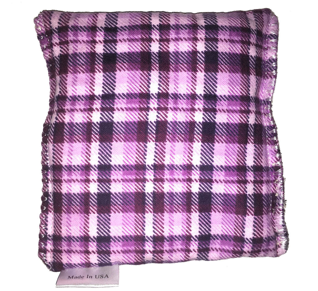 Purple Plaid Hot/Cold Packs 44 Scents to Choose From Reusable Ouchee Heat Packs BooBoo Small Rice Pack
