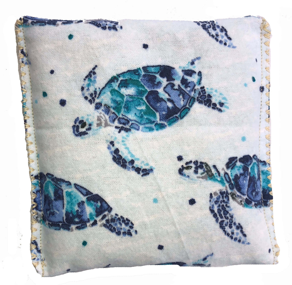 Blue Sea Turtle Hot/Cold Packs 44 Scents to Choose From Reusable Ouchee Heat Packs BooBoo Small Rice Pack