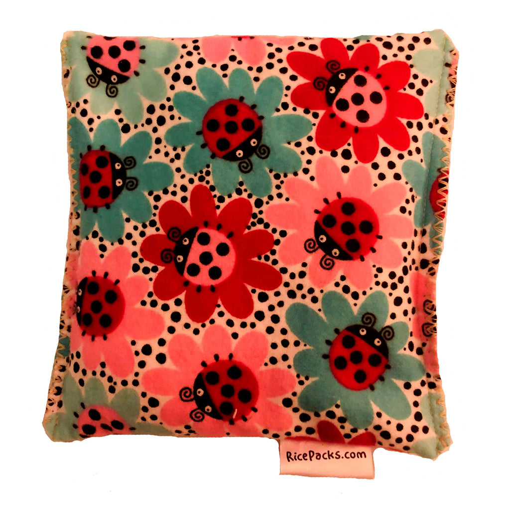 Lady Bug Flowers Hot/Cold Packs 44 Scents to Choose From Reusable Ouchee Heat Packs BooBoo Small Rice Pack