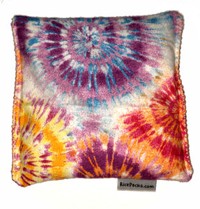 Starburst Rainbow Tie Dye Hot/Cold Packs 44 Scents to Choose From Reusable Ouchee Heat Packs BooBoo Small Rice Pack