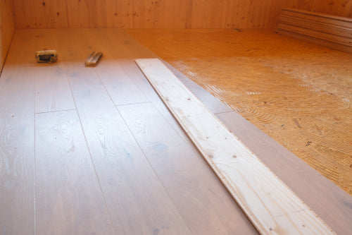 laying parquet new flooring