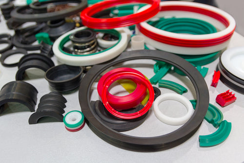 various sealing products at exhibit