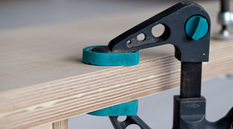 wooden planks clamps