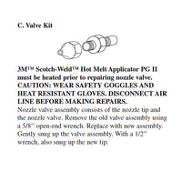 3M 9223 PG II Valve Assembly Repair Kit