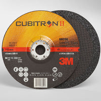 3M Cubitron II T27 quick change grinding wheel with depressed center.