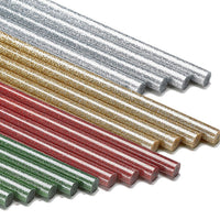 Glitter Hot Glue Sticks - Red, Green, Silver, Gold and Variety